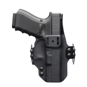 """BlackPoint Tactical DualPoint Appendix Outside The Waistband Holster Springfield Armory XD-S 3.3"""" Barrel Right Hand Draw 1.75"""" Strut Loop Kydex Matte Black"""