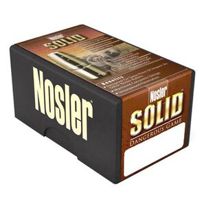 "Nolser .470 Caliber .474"" Diameter 500 Grain Lead Free Solid Flat Nose Rifle Bullets 25 Count 28455"