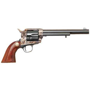 "Cimarron Model P Revolver .357 Mag 7.5"" Barrel 6 Rounds Case Hardened Frame Walnut Stocks Standard Blue"