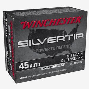 Winchester Silvertip 45 ACP Ammunition 185 Grain JHP 1000 fps