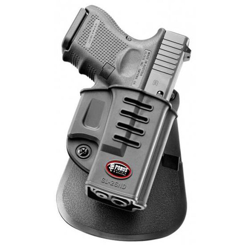 Fobus Evolution Roto-Paddle/Belt Holster For GLOCK 26/27/33 Right Hand Polymer Black GL26NDRP