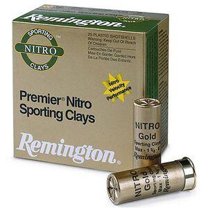 "Ammo 12 Gauge Remington Premier Nitro Gold Sporting Clays 2-3/4"" 1oz #7.5 Shot 1350 fps 250 Round Case STS12NSC17"