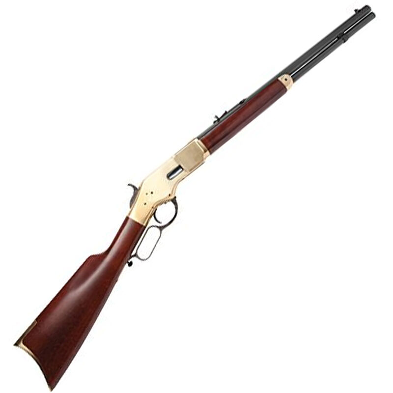 """Cimarron 1866 Yellowboy Lever Action Short Rifle .32-20 Winchester 20"""" Barrel 10 Rounds Brass Receiver Wood Stock Blued Finish"""