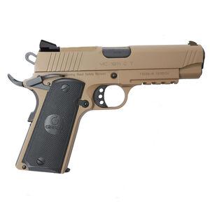 "EAA GiRSAN MC1911C Commander Model 9mm Luger Semi Auto Pistol 4.4"" Barrel 9 Rounds Novak Sights Ambidextrous Safety Flat Dark Earth Finish"