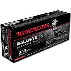 Ammo .243 WSSM Winchester Supreme 95 Grain Ballistic Silvertip Bullet 3150 fps 20 Rounds SBST243SSA