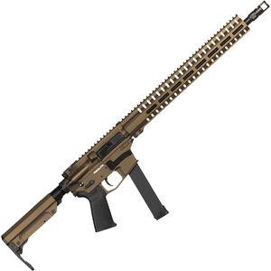 "CMMG Resolute 300 MkGs 9mm Luger AR-15 Semi Auto Rifle 16"" Barrel 33 Rounds Uses GLOCK Style Magazines RML15 M-LOK Handguard RipStock Collapsible Stock Midnight Bronze Finish"