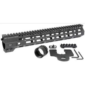 "Midwest Industries AR-15 Combat Rail 12.625"" One Piece Free Float Hand Guard M-LOK/Picatinny 6061 Aluminum Hard Coat Anodized Finish Matte Black"
