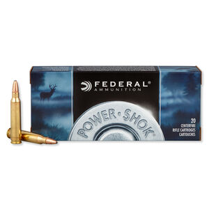 Federal Power-Shok .223 Remington Ammunition 55 Grain JSP 3240 fps