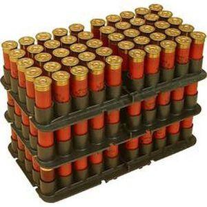 MTM Case-Gard 12 Gauge Shotgun Shotshell Trays 50 Rounds Capacity Stackable Polymer Black