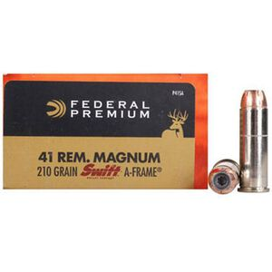 Federal .41 Rem Mag 210 Grain Swift A-Frame 20 Round Box