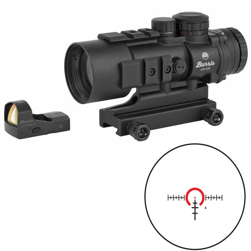 Burris AR-536 5x36mm Prism Sight Ballistic 5X Reticle With FastFire III Reflex Red Dot Sight 3 MOA/Picatinny Rail Mount Matte Black