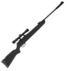 "Hatsan Model 125 Combo Break Barrel Air Rifle .25 Caliber Vortex Piston 19.6"" Barrel 1 Round 750 fps Synthetic Stock Fiber Optic Sights 3-9x32 Scope Black HC12525VORT"