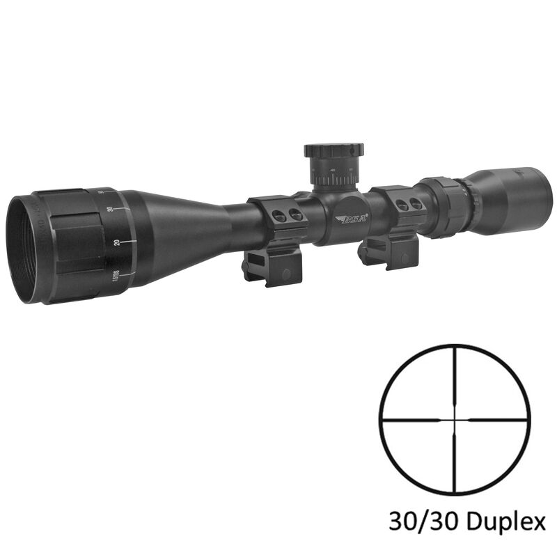 "BSA Optics SWEET .243 AO 3-9x40 Riflescope 30/30 Reticle 1"" Tube .25 MOA Adjustments Variable Parallax Second Focal Plane Matte Black"