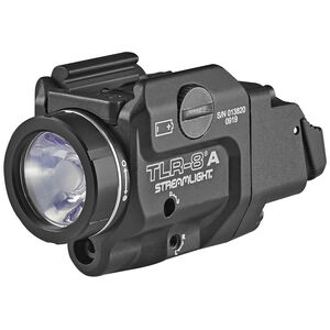 Streamlight TLR-8 A Compact Handgun Rail 500 Lumen Light/Red Laser Combo Ambi Rear Switch CR123A Aluminum Black