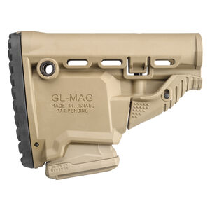 FAB Defense AR-15 Survival Buttstock with Built in Magazine Carrier Mil-Spec and Commercial Tubes Polymer FDE