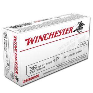 Winchester USA .38 Super+P 130 Grain FMJ 50 Round Box