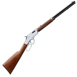 """Taylor & Co Uberti Scout Lever Action Rifle .22 LR 19"""" Barrel 15 Rounds Capacity Chrome Receiver Walnut Stock Blue 2045"""