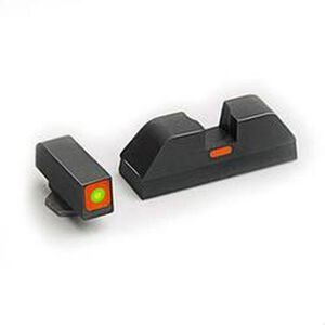 AmeriGlo CAP Sight Set For GLOCK, Green Tritium, Steel