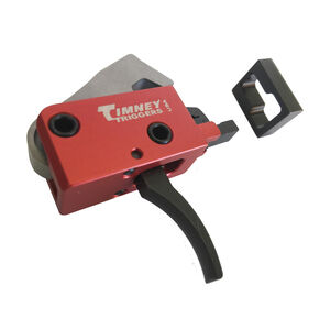 Timney Trigger SIG Sauer MPX Drop In Replacement Trigger Two-Stage Curved Trigger Shoe Aluminum Housing Red Finish