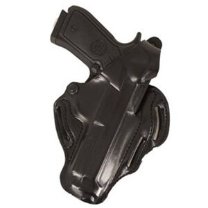 DeSantis Thumb Break Scabbard Belt Holster Beretta 92-A1 Right Hand Leather Black 001BAV6Z0