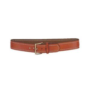 """DeSantis Plain Lined Belt 1-1/4"""" Wide Size 36 Chrome Buckle Leather Tan"""