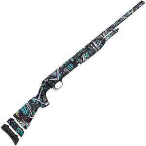 "Mossberg 510 Youth Mini Super Bantam .410 Bore Pump Action Shotgun 18.5"" Barrel 3"" Chamber 3 Rounds Fixed Modified Choke Bead Sight Synthetic Stock Muddy Girl Serenity Finish"