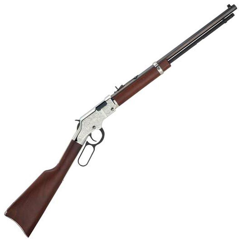 "Henry Silver Eagle Lever Action Rifle .22 LR 20"" Octagonal Barrel 12 Rounds Nickel Engraved Receiver  Walnut Stock Blued H004SE"