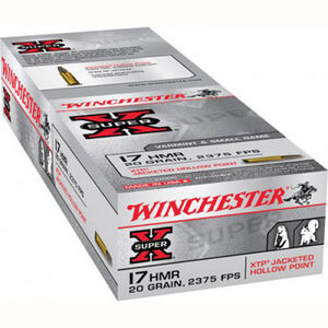 Winchester Super X .17 HMR Ammunition 1000 Rounds, XTP, 20 Grain