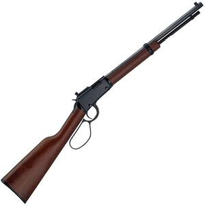"Henry Repeating Arms Small Game Carbine Lever Action Rifle Rimfire .22 LR/L/S 16.25"" Barrel 12 Rounds Adjustable Peep Sight Walnut Stock Blued Finish H001TLP"