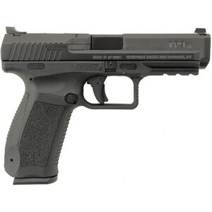"Century Arms TP9SA Mod.2 9mm Luger Semi Auto Pistol 4.46"" Barrel 18 Rounds Warren Tactical Sights Polymer Frame Black"