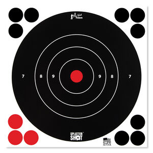 "Pro-Shot Splatter Shot 8"" White Bull's-eye 30 Pack"