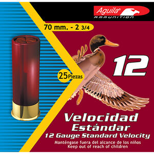 """Aguila  12 Gauge Ammunition 250 Shells, 1 1/8 Ounce, #6 Lead, 2 3/4"""""""