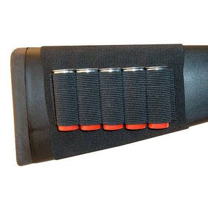 GrovTec Buttstock Shotgun Shell Holder 5 Shell Loops Nylon Black GTAC82