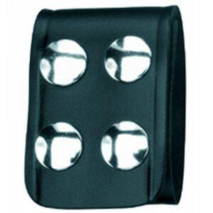 "Gould & Goodrich Quad Snap Belt Keeper Leather 1.75"" Wide Black B129"