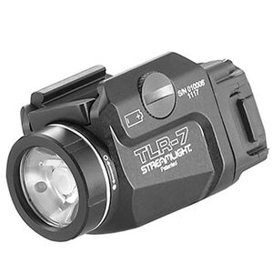 Streamlight TLR-7 Compact Weapon Light 500 Lumen LED White Light CR123A Battery Aluminum Matte Black