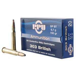 Prvi Partizan PPU .303 British Ammunition 150 Grain SPBT 2690fps