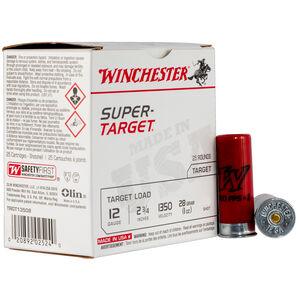 "Winchester Super-Target 12 Gauge Ammunition 25 Round Box 2-3/4"" #7.5 Lead 1oz 1350 fps"
