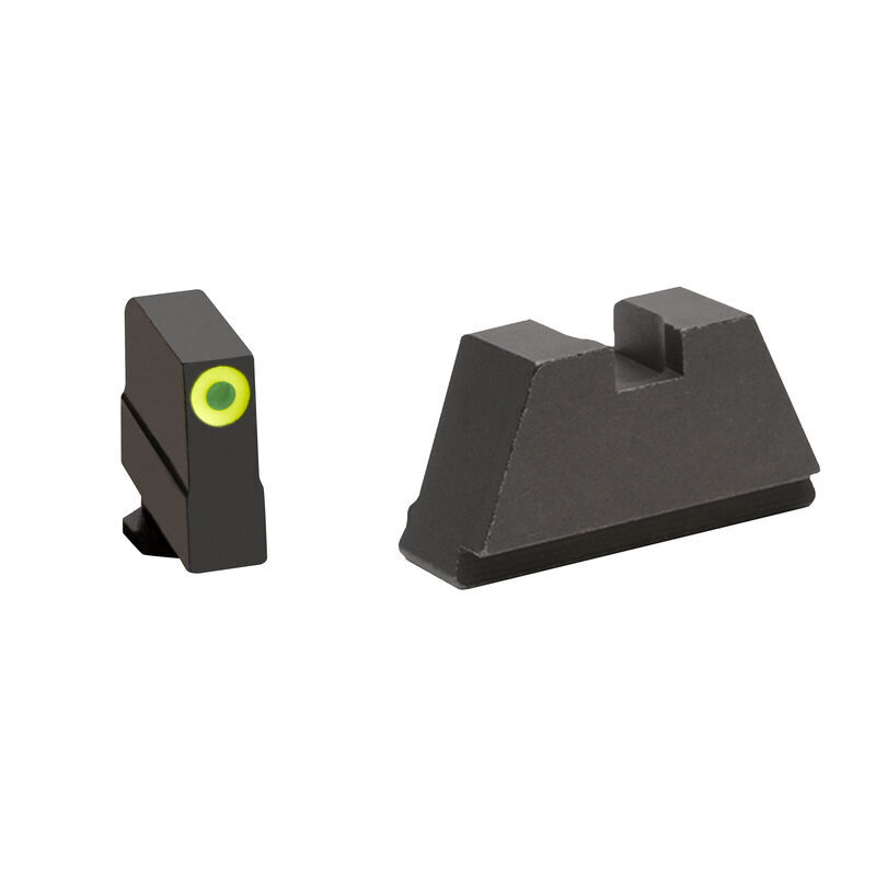 Ameriglo 3XL Tall Sight Set for GLOCK Green Tritium Front Dot with Black Outline Front and Flat Black Rear