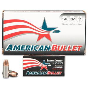 American Bullet 9mm 50 Rounds, JHP, 147 Grain