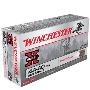 Winchester Super X .44-40 Winchester Ammunition 50 Rounds JSP 200 Grains X4440
