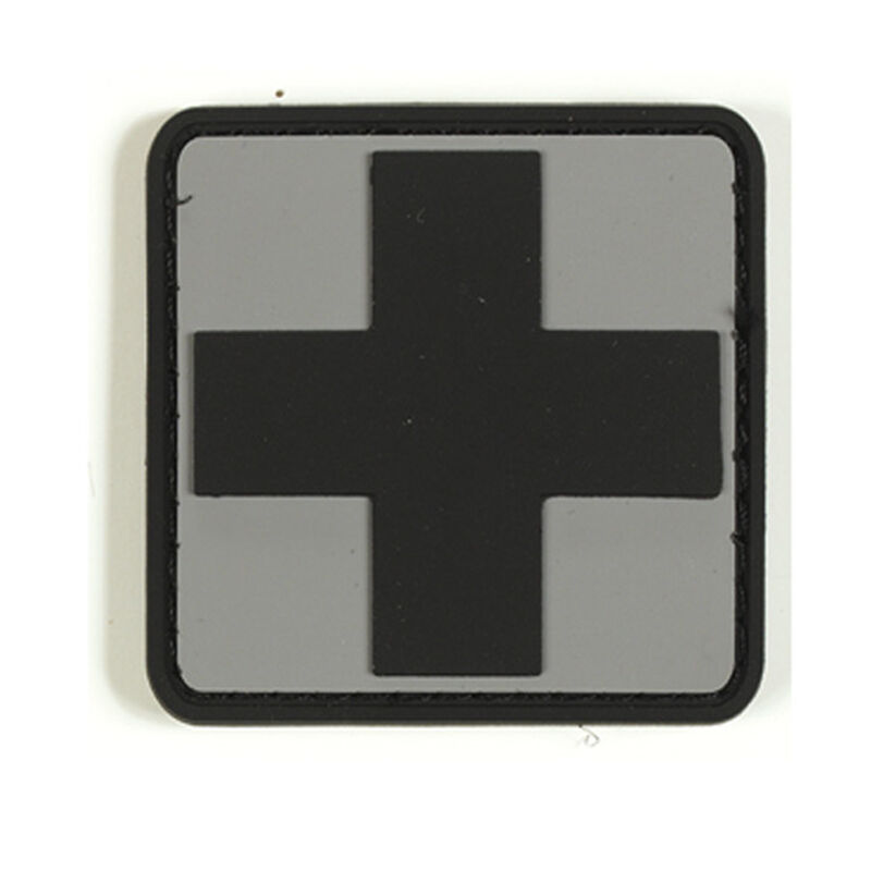 Voodoo Tactical 3D First Aid Symbol Patch TPR Rubber Gray