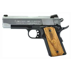 "American Classic 1911 Compact Commander Semi Auto Pistol .45 ACP 4.25"" Barrel 7 Rounds Wood Grips Duo Tone Hard Chrome Slide Blued Frame"