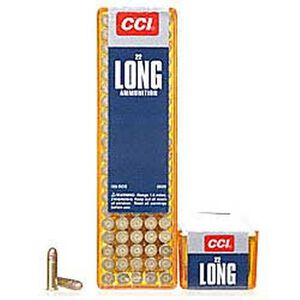CCI .22 Long Ammunition 100 Rounds Copper Plated RN 29 Grain 1,215 Feet Per Second