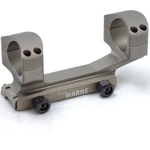 "Warne Scope Mounts X-SKEL Gen 2 AR-15 1"" Tube Ultra High 1 Piece Picatinny Mount Aluminum Matte FDE Finish XSKEL1DE"
