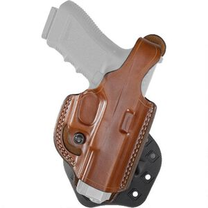 Aker Leather 268 FlatSider Thumbreak XR17 SIG P320c Paddle Holster Right Hand Leather Tan