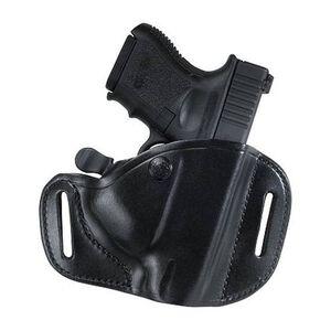 Bianchi #82 CarryLok GLOCK 19, 23, 36 Belt Slide Retention Holster Left Hand Leather Plain Black 22153