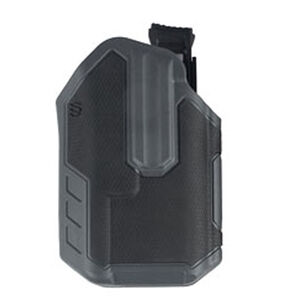 BLACKHAWK! Omnivore Multi Fit Holster for Most Handguns with TLR 1 or 2 Light Level 2 Retention Right Hand Polymer Black and Grey