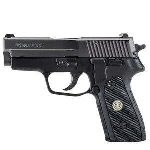 "SIG Sauer P225-A1 Nitron Compact Semi Auto Pistol 9mm Luger 3.6"" Barrel 8 Round SIGLITE Night Sights G10 Grips Nitron Slide/Hard Coat Anodized Frame Matte Black"