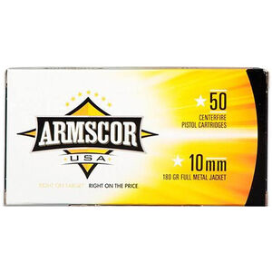 Armscor USA 10mm Auto Ammunition 50 Rounds, FMJ, 180 Grain
