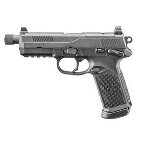 "FN FNX-45 Tactical Semi Auto Handgun .45 ACP 5.3"" Threaded Barrel 15 Rounds Fixed 3 Dot Night Sights MIL-STD-1913 Accessory Rail Ambidextrous Matte Black"